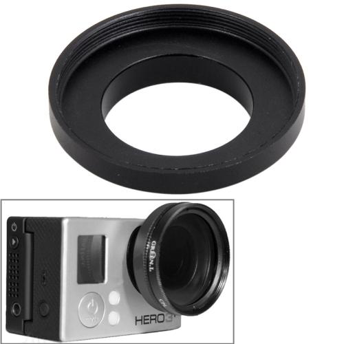 Hot Sale 37mm Aluminum Alloy UV Lens Filter Ring Adapter for GoPro Hero 3 / Hero 3+ (Black)