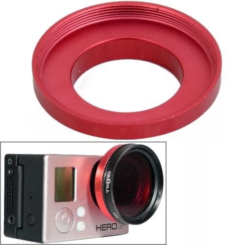 Hot Sale 37mm Aluminum Alloy UV Lens Filter Ring Adapter for GoPro Hero 3 / Hero 3+ (Red)