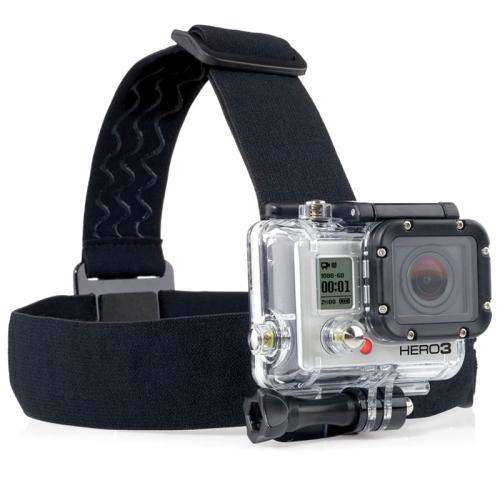 ST-23 Elastic Adjustable Head Strap Mount Belt for GoPro Hero 4 / 3 + / 3 / 2 / 1 (Black)