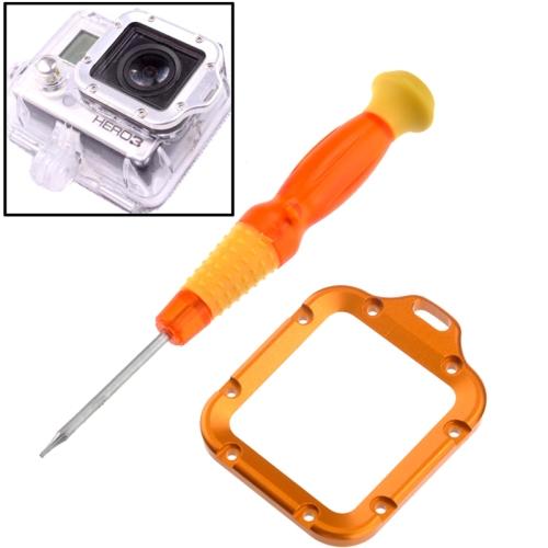 ST-44 Lens Replacement Kit Aluminum Lanyard Ring Mount & Screwdriver for GoPro Hero 3 (Orange)