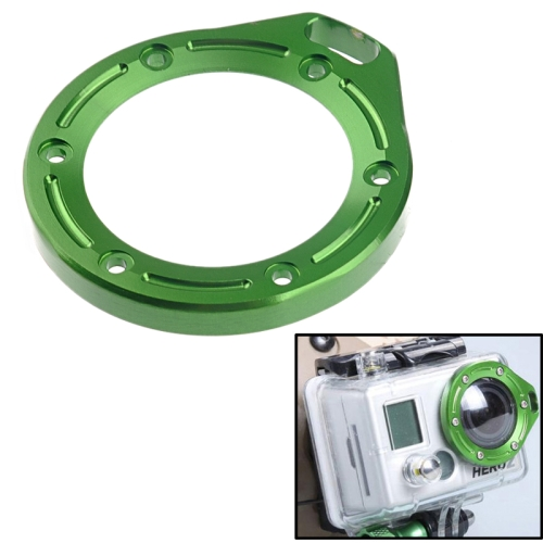 ST-43 Aluminum Lanyard Lens Ring Mount for Gopro Hero 2 (Green)
