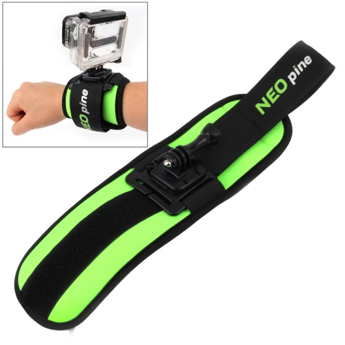 NEOpine 360 Degree Rotation Sports Diving Mount Stabilizer Wrist Strap for GoPro HERO 4 /3+ /3 /2 /1 (Lime)