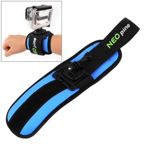 NEOpine 360 Degree Rotation Sports Diving Mount Stabilizer Wrist Strap for GoPro HERO 4 /3+ /3 /2 /1 (Blue)