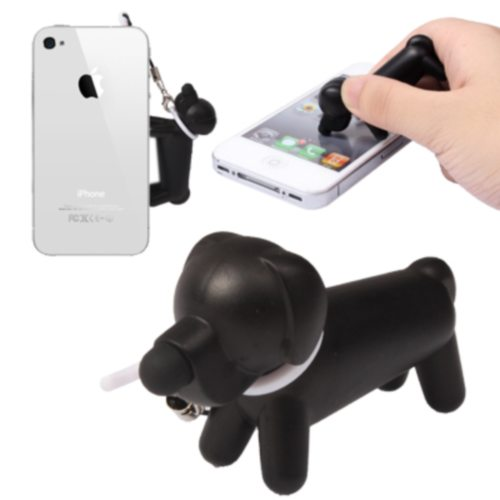 Cute Dog Design Stylus Touch Screen Pen with 3.5mm Earphone Jack Plug for Mobile Phones (White)