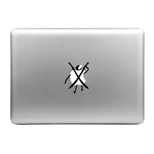 Removable Hat-Prince Double Knives and Person Style Decorative Sticker for MacBook Air / Pro / Pro with Retina Display