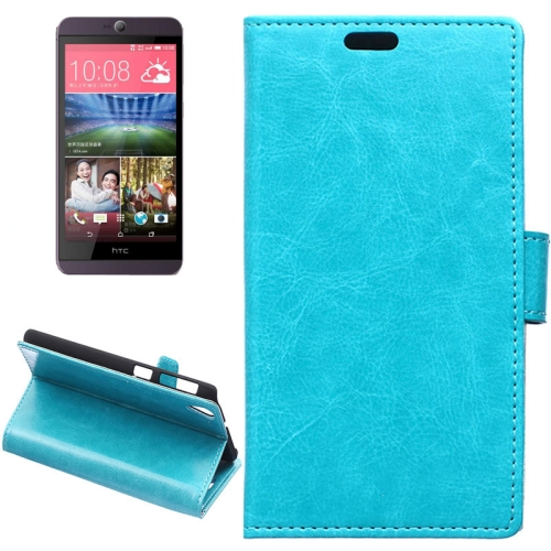 Crazy Horse Texture Horizontal Wallet Flip Leather Case for HTC Desire 826 with Magnetic Buckle (Blue)