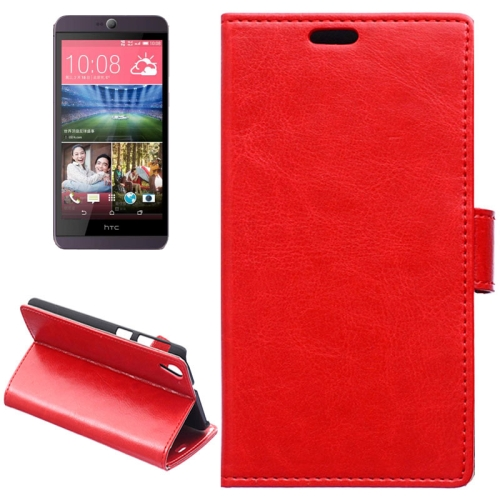 Crazy Horse Texture Horizontal Wallet Flip Leather Case for HTC Desire 826 with Magnetic Buckle (Red)