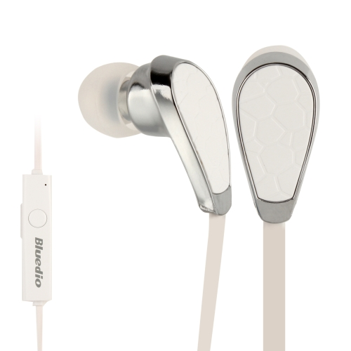 Bluedio N2 In-ear Stereo Bluetooth Headset with Mic for Moblie Phones (White)