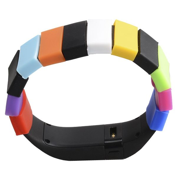 High Quality Mixed Color Silicone Fastener Ring for Fitbit Charge