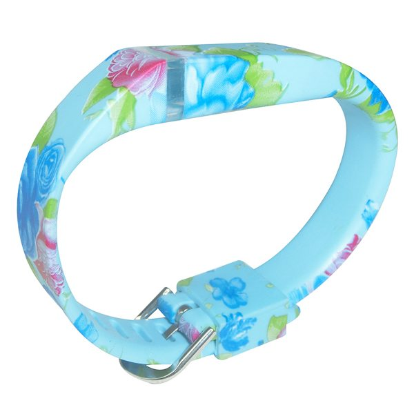 Hot Selling Creative Design Replacement Wristband for Fitbit Flex with Metal Clasp (Flower Pattern 1)
