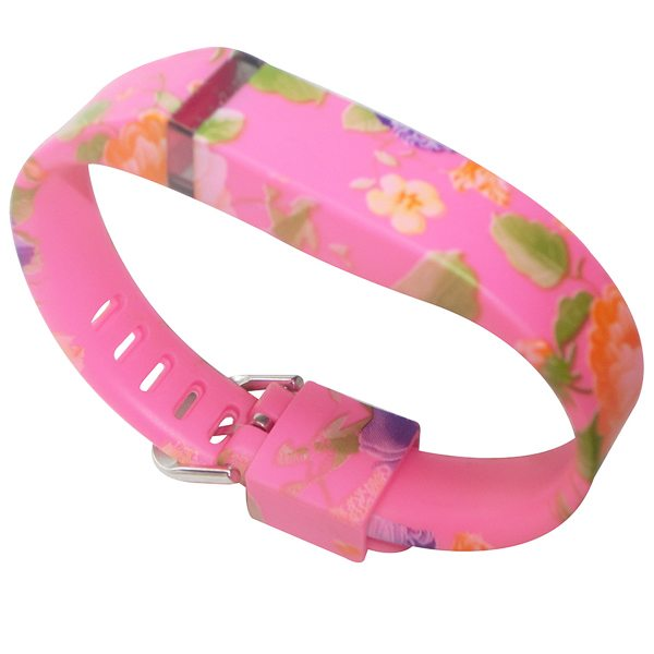 Hot Selling Creative Design Replacement Wristband for Fitbit Flex with Metal Clasp (Flower Pattern 2)