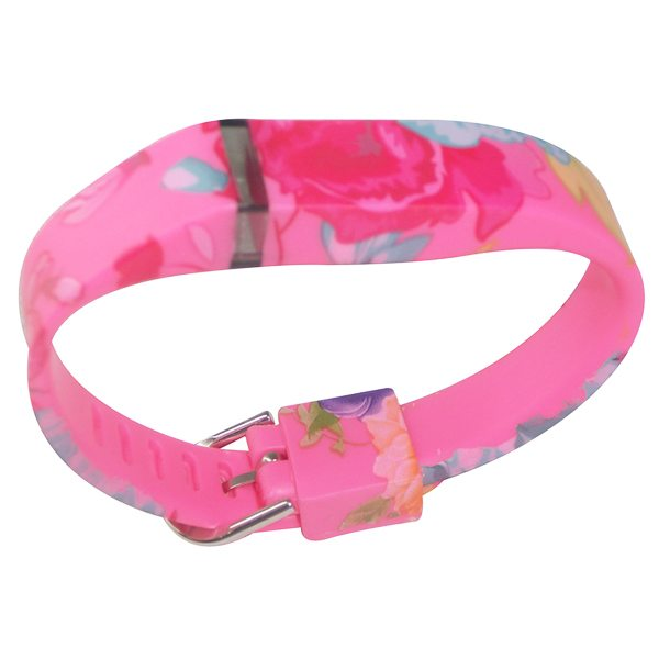 Hot Selling Creative Design Replacement Wristband for Fitbit Flex with Metal Clasp (Flower Pattern 4)