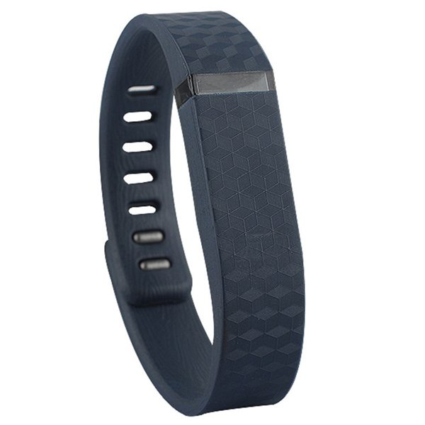 3D Glowing Style Replacement Wristband for Fitbit Flex with Metal Clasp (Dark Blue)