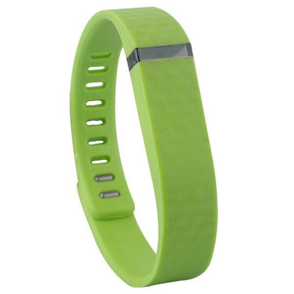 3D Glowing Style Replacement Wristband for Fitbit Flex with Metal Clasp (Green)