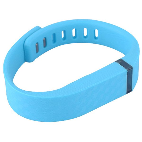 3D Glowing Style Replacement Wristband for Fitbit Flex with Metal Clasp (Light Blue)