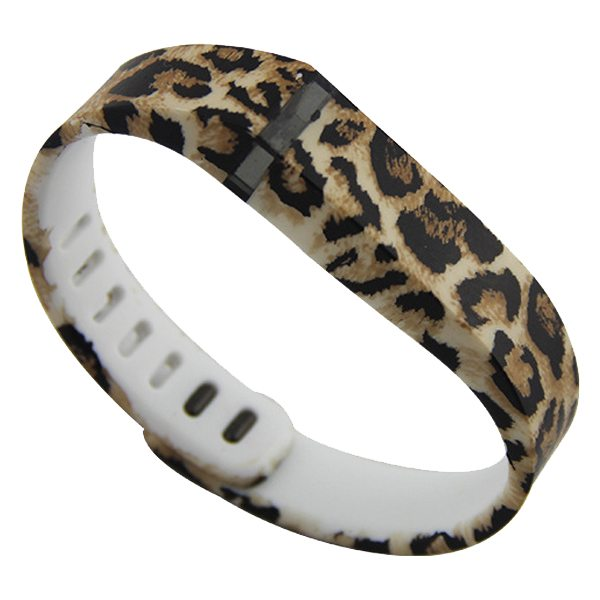 Unrivalled Quality Replacement Wristband for Fitbit Flex with Metal Clasp (Leopard Print Pattern Two)