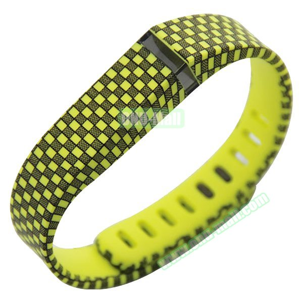 Multi Colors Replacement Wristband for Fitbit Flex with Kirsite Clasp( Black+Yellow )