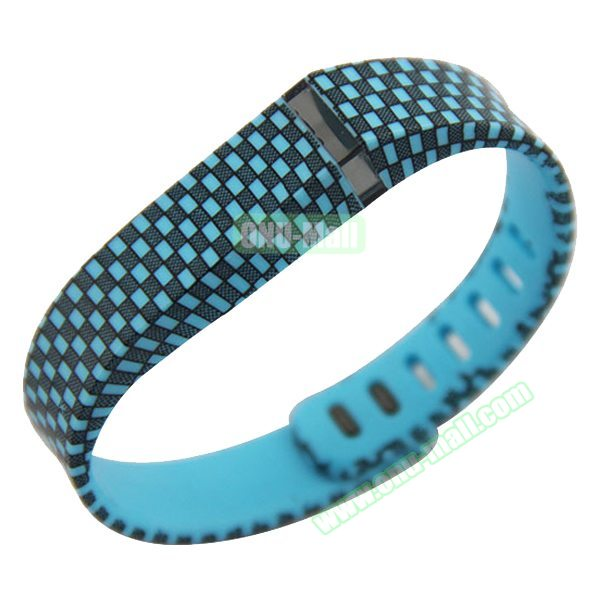 Multi Colors Replacement Wristband for Fitbit Flex with Kirsite Clasp( Black+Blue)