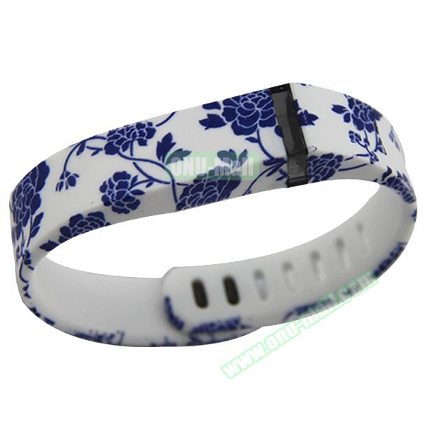 Cheap Smart Replacement Wristband for Fitbit Flex with Kirsite Clasp (Flower Pattern Seven )