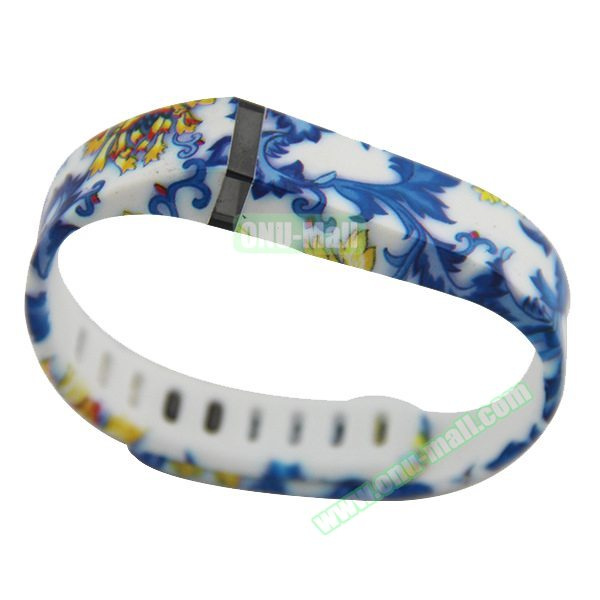 Cheap Smart Replacement Wristband for Fitbit Flex with Kirsite Clasp (White Flower  )