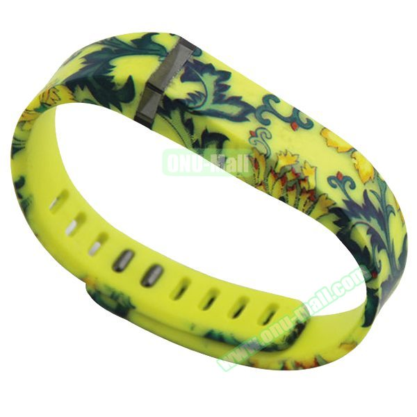 Cheap Smart Replacement Wristband for Fitbit Flex with Kirsite Clasp (Camouflage  Pattern Four)