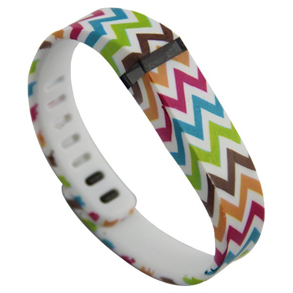 2015 New Style Replacement Wristband for Fitbit Flex with Metal Clasp (Curve Line Pattern)