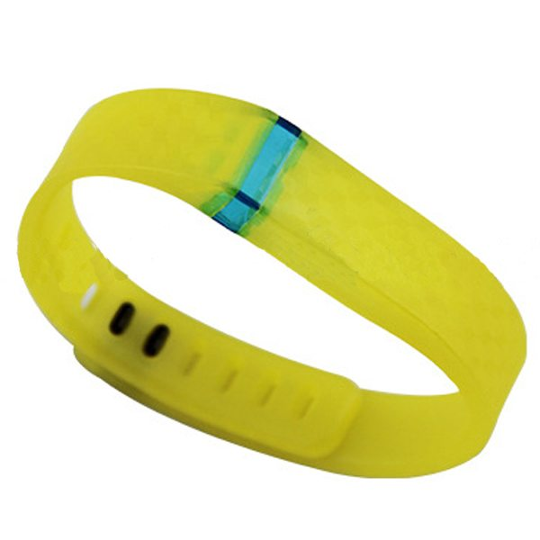 3D Stereoscopic Glowing Pattern Replacement Wristband for Fitbit Flex with Aluminum Clasp (Yellow)