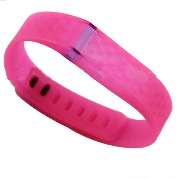 3D Stereoscopic Glowing Pattern Replacement Wristband for Fitbit Flex with Aluminum Clasp (Pink)