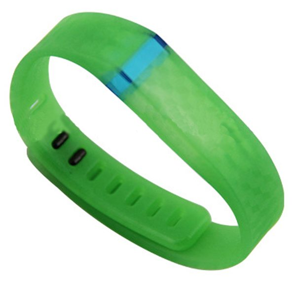 3D Stereoscopic Glowing Pattern Replacement Wristband for Fitbit Flex with Aluminum Clasp (Green)