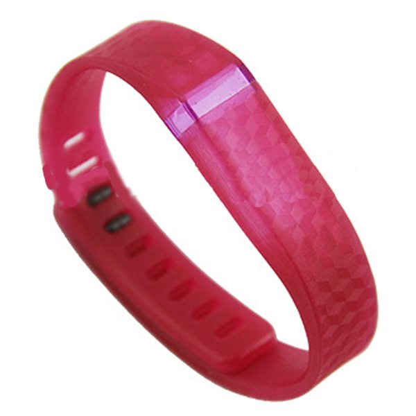 3D Stereoscopic Glowing Pattern Replacement Wristband for Fitbit Flex with Aluminum Clasp (Red)