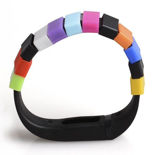 2015 Hot Sale Mixed Color Silicone Fastener Ring for Fitbit Flex (10 pcs)