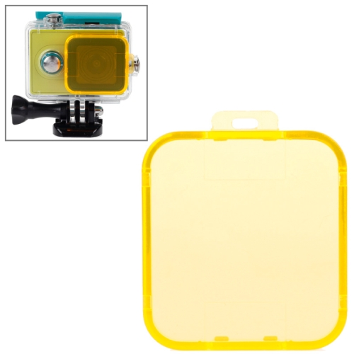 New Coming Snap-on Dive Filter Housing for Xiaomi Xiaoyi (Yellow)