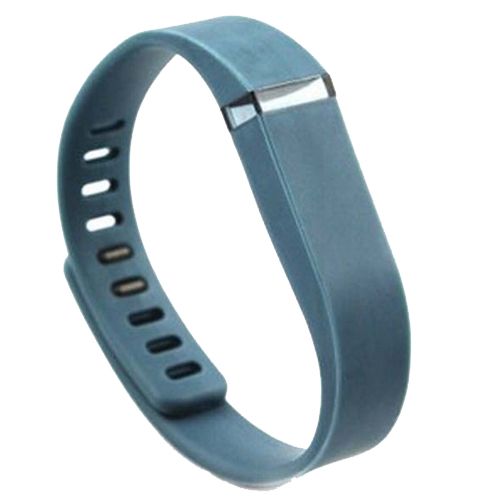 Multi Colors Replacement Wristband for Fitbit Flex with Metal Clasp (Navy Blue)