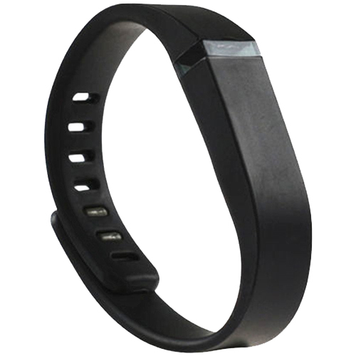 Multi Colors Replacement Wristband for Fitbit Flex with Metal Clasp (Black)