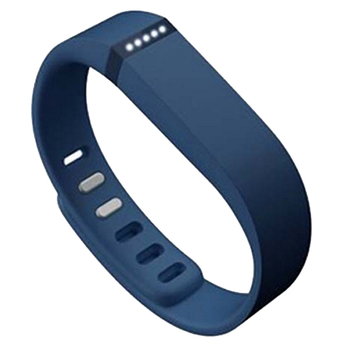Multi Colors Replacement Wristband for Fitbit Flex with Metal Clasp (Dark Blue)