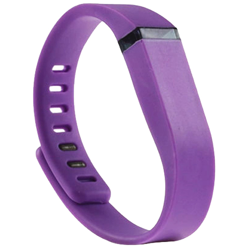 Multi Colors Replacement Wristband for Fitbit Flex with Metal Clasp (Purple)