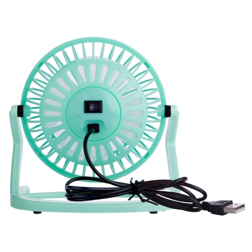 JLK-002M USB Powered Portable Mini Fan with Free Angle Adjustment (Green)