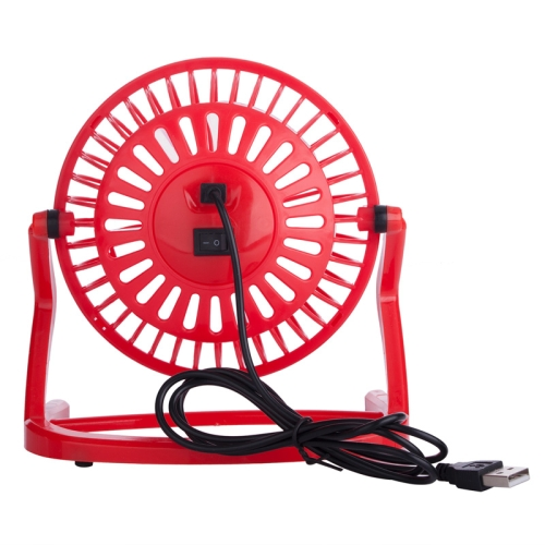 JLK-002M USB Powered Portable Mini Fan with Free Angle Adjustment (Red)