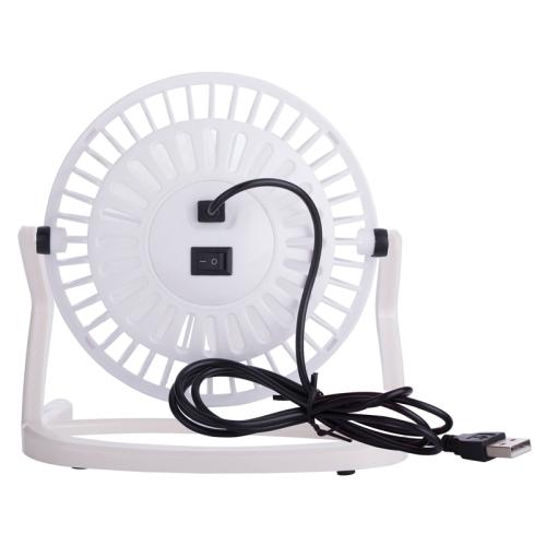 JLK-002M USB Powered Portable Mini Fan with Free Angle Adjustment (White)
