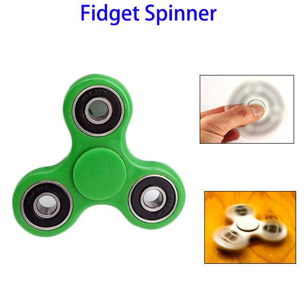 Tri-Spinner Toy With Premium Hybrid Ceramic Bearing (Green)