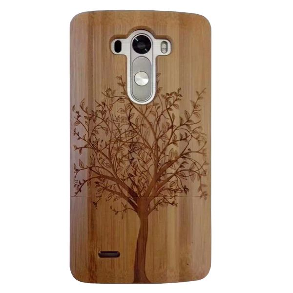 Unique Design Protective Hard Separable Wood Case for LG G3 (Tree Pattern)