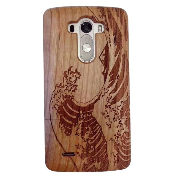 Unique Design Protective Hard Separable Wood Case for LG G3 (Sea Pattern)