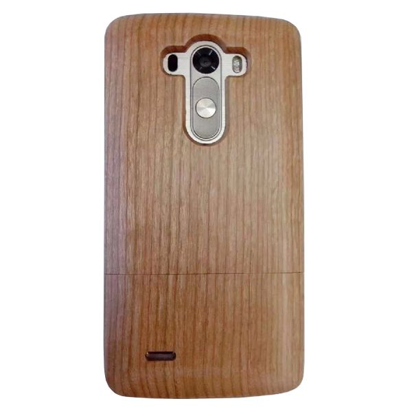Unique Design Protective Hard Separable Wood Case for LG G3 (Light Pure Color)