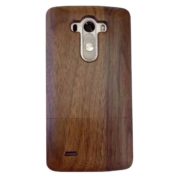Unique Design Protective Hard Separable Wood Case for LG G3 (Coffee)