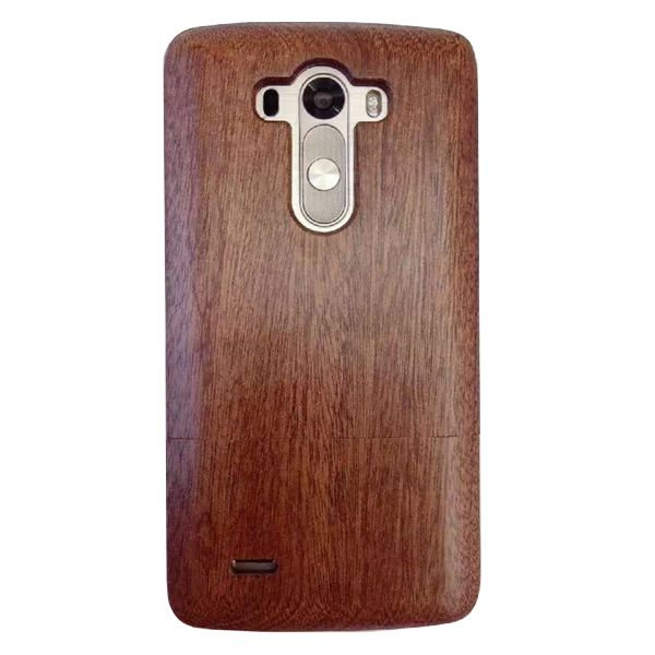 Unique Design Protective Hard Separable Wood Case for LG G3 (Brown)