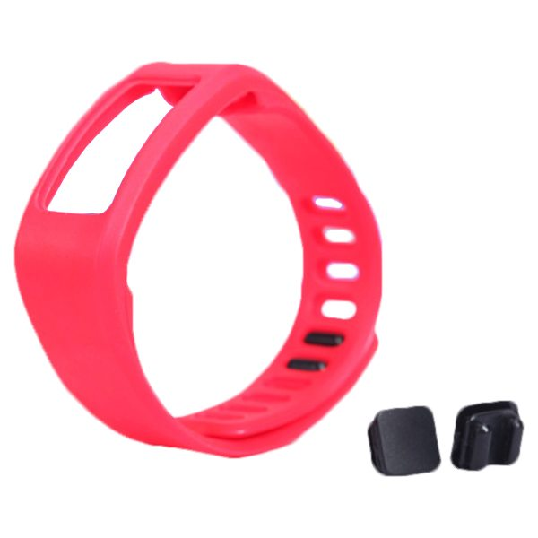 High Quality Eco-friendly TPE and TPU Replacement Wristband for Garmin Vivofit with Metal Clasp (Red)