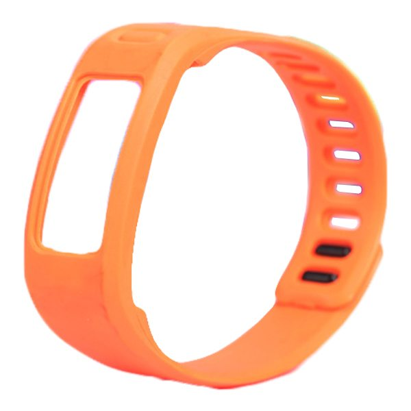High Quality Eco-friendly TPE and TPU Replacement Wristband for Garmin Vivofit with Metal Clasp (Orange)