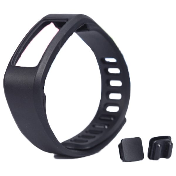 High Quality Eco-friendly TPE and TPU Replacement Wristband for Garmin Vivofit with Metal Clasp (Black)