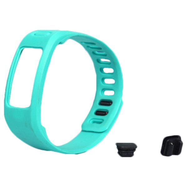 High Quality Eco-friendly TPE and TPU Replacement Wristband for Garmin Vivofit with Metal Clasp (Cyan)