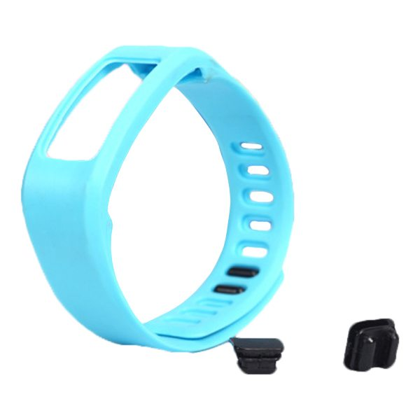 High Quality Eco-friendly TPE and TPU Replacement Wristband for Garmin Vivofit with Metal Clasp (Light Blue)